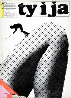Roman Cieślewicz, Cover of a Ty i ja magazine, photo: press materials Polish Movie Posters, Roman, Illustration Photo, Art Addiction, Graphic Design Art, 2d Design, Grafik Design, Illustrations And Posters, Editorial Design