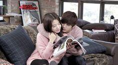 Yoo Seung Ho and Park Shin Hye share a kiss on the set of So Ji Sub's MV