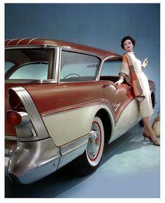 1957 Buick Century Caballero Wagon by paul.malon, via Flickr