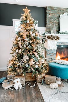 Rustic Boho Glam Christmas Tree Decorating Ideas | The DIY Mommy