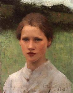 A Village Maiden, George Clausen