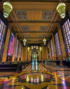 Visit the Old Union Pacific Train Depot, at the Durham Museum! It's especially beautiful during the holiday season.