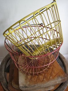 i love wire baskets. especially poultry ones.