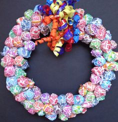 Lollipop Candy Wreath Birthday Gift by CandyWreathsbyCarla on Etsy