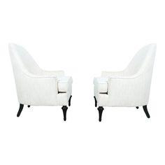 Image of Hollywood Regency Highback Chairs - Pair