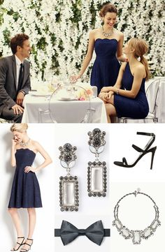 Gorgeous #navyblue bridesmaid look from Ann Taylor http://www.theperfectpalette.com/2014/02/sponsored-post-ann-taylor_5.html