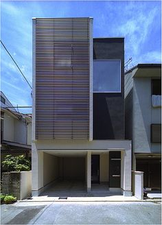 really love tiny, well thought out homes Architecture Details, Modern Architecture, Japanese Modern House, Narrow House Designs, Small Buildings, Dream Home Design, Facade Design, Facade House, Lofts
