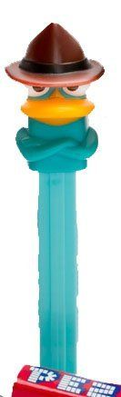 """Phineas and Ferb PEZ Candy Dispenser - Perry the Platypus (""""Agent P"""") #PEZ #PhineasandFerb Available From West Point Toy & Hobby on Amazon"""