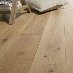 Solid vitric oak natural wood flooring L ARTENS Solidclic Wood Parquet, Parquet Flooring, Wooden Flooring, Laminate Flooring, Natural Wood Flooring, Versace Home, Refinishing Hardwood Floors, Modern Rustic, New Homes