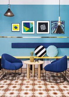 Décor do dia: cores e estampas no lounge