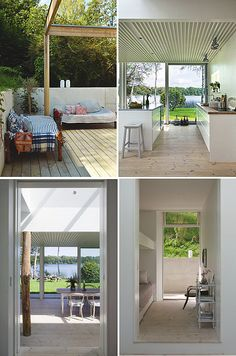 Gorgeous views from this Danish summer home designed by architect Mette Lange. Located in North Zealand, Denmark
