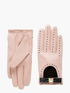 perforated leather gloves - Kate Spade