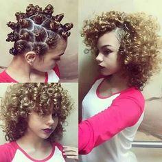 Beautiful.. Bantu knot out