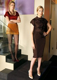 Serena van der Woodsen wore a top and skirt from Porter Grey and Nine West Shoes, while Lily van der Woodsen donned a Hugo Boss dress and Miu Miu pumps (s2)
