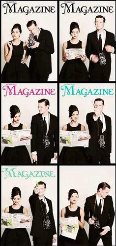 [GIFS] Jenna Louise Coleman and Matt Smith for The Times Magazine. Gosh I love them.
