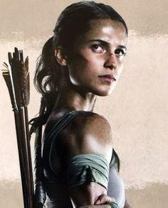 Alicia Vikanda as Tomb Raiders Lara Croft Tomb Raider Alicia Vikander, Alicia Vikander Lara Croft, Tomb Raider Movie, Tomb Raider 2018, Tomb Raider Costume, Deadpool Pictures, Tom Raider, Cool Braids, Amazing Braids