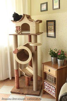 Компания «CATS-КВАРТАЛ»-эксклюзивные комплексы и домики для кошек премиум класса - Страница 15 Mr Chat, Cat Castle, Cat House Plans, Cat Shelves, Cat Crafts, Outdoor Cats, Outdoor Cat Houses, Heated Outdoor Cat House, Cat Climbing