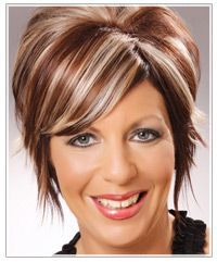 short hair with brown lowlights | ... to pinterest labels black hair highlights blonde hair highlights brown