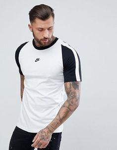 Discover the new collections of men's fashion at ASOS. Shop the latest trends and styles in men's clothing, shoes and accessories with ASOS. Mens Cotton T Shirts, Mens Tees, Nike Outfits, Sport Outfits, Nike Clothes Mens, Polo Shirt Design, Casual Wear For Men, Polo Tees, Latest Mens Fashion