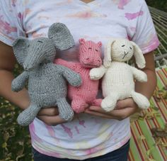Wee Ones Seamless Knit Toys (pay and download pattern)