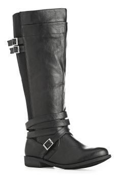 Marlowe Stretch Panel Riding Boot (This is wide wide)-Extra Wide Width Boots-Avenue