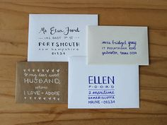 How To Hand-Letter An Envelope >> http://blog.diynetwork.com/maderemade/2014/05/30/how-to-hand-letter-an-envelope/?soc=pinterest