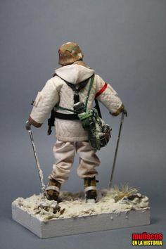 SOLDADO ALEMAN WWII EN UNIFORME DE INVIERNO – I – Figura articulada Escala 1/10 madelman custom