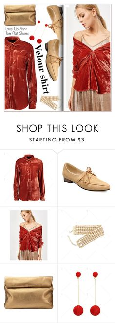 """Velour shirt"" by paculi ❤ liked on Polyvore featuring Jigsaw and velour"