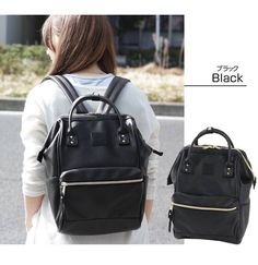 Leather Backpack Ring Anello Backpack School Bags Anneau Masculina Japan Sac A Dos Muchila Women Zaino Escolar Feminina Anello Backpack Outfit, Anello Bag, Japan Bag, Black Leather Backpack, Leather Bags, Zipper Bags, School Bags, Fashion Backpack, Singapore Singapore