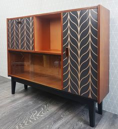 Slim Teak Upcycled vintage drinks and display cabinet can find Teak and more on our website.Slim Teak Upcycled vintage drinks and display cabinet Teak, Diy Furniture, Painted Furniture, Deep Sideboard, Teak Furniture, Upcycled Furniture, Home Decor, Display Cabinet, Furniture Design