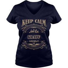 KEEP CALM AND LET KRAPF HANDLE IT T-SHIRT #gift #ideas #Popular #Everything #Videos #Shop #Animals #pets #Architecture #Art #Cars #motorcycles #Celebrities #DIY #crafts #Design #Education #Entertainment #Food #drink #Gardening #Geek #Hair #beauty #Health #fitness #History #Holidays #events #Home decor #Humor #Illustrations #posters #Kids #parenting #Men #Outdoors #Photography #Products #Quotes #Science #nature #Sports #Tattoos #Technology #Travel #Weddings #Women