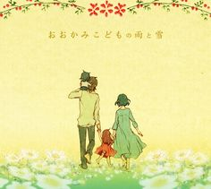OOKAMI KODOMO NO AME TO YUKI   Tumblr Miyazaki, Film Wolf, Wolf Children Ame, Manhwa, Studio Ghibli Movies, Anime Family, Manga Cute, Cute Comics, Animation