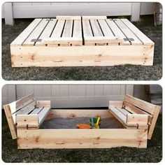 Great sandbox idea for when the kids grow older!
