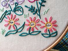 Alice's Garden Embroidery Pattern from Little Dorrit & Co. | Sew Mama Sew | Outstanding sewing, quilting, and needlework tutorials since 2005.