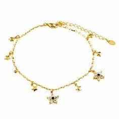 Pugster Golden Star Ankle Bracelet Anklet Swarovski Crystal Lobster Clasp Pugster. $26.39. Free Gift Box. 9 Inch to 10 inch Length Adjustable Anklet. Money-back Satisfaction Guarantee. Made with Swarovski Elements. The perfect accessory for evening or day wear
