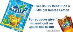 Mobile Recharge offers with refreshing Nestea. Visit http://ads.uahoy.in/nestea?src=socialmedia and Get 5 Rs off on your bill and get free recharge of Rs.20 on purchase of 500 gm Nestea from your nearest Big Bazaar and Food Bazaar. Offer valid in Delhi NCR only.T&C Apply