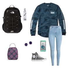 """""""Untitled #39"""" by laineynye on Polyvore featuring Hollister Co., H&M, Converse, LifeProof, PopSockets, The North Face, S'well, Vera Bradley and Effy Jewelry"""