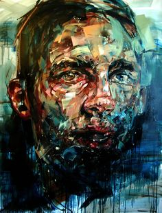 Amazing paintings by Andrew Salgado that are simply ooming with an undefined energy. Andrew Salgado (b. in Canada) is an artist living in London, UK. Amazing Paintings, Amazing Art, Awesome, L'art Du Portrait, Art Watercolor, Heart Art, Contemporary Paintings, Painting Inspiration, Portrait Inspiration