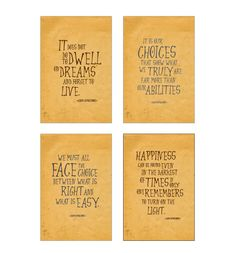 SALE! Harry Potter art print set Albus Dumbledore quotes, inspirational quote wall art, kids room nursery & dorm decor, christmas gift ET201 by InstantGoodVibes on Etsy