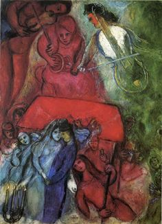 """Marc Chagall - """"The Wedding"""", 1944"""