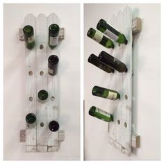 Repurposed Wooden Fence Wine Rack by DesignDistressed on Etsy, $65.00