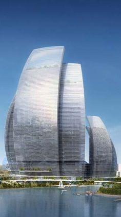 Tongzhou Resort City-Landmark Tower, Beijing, China by GDS Architects :: 80 floors, height 333m