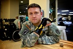 The Army OT Guy - UCA Grad!  He created concussion treatment centers in many deployed locations!  Check out his Batman splint!