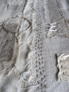Contemporary textiles and mixed media pieces for interior spaces - http://www.gizellakwarburton.co.uk
