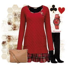 Sweater Dress 1 by gemique on Polyvore featuring polyvore, fashion, style, Anouki, Prada, Alison Lou and Steinhausen