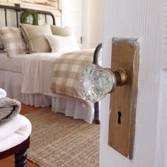 Love this old doorknob in this 1905 farmhouse!