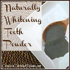 Naturally Whitening Tooth Powder~ Creative Christian Mama