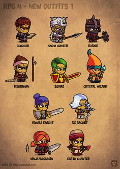 Cartoon RPG Characters 4 on Behance