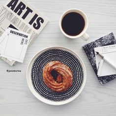 Afternoons we do like - have a break refill the coffe and get right back at it. // // Siirtolapuutarha Plate by marimekkodesignhouse Marimekko, Tea Time, Plates, Coffee, Tableware, Instagram Posts, Food, Art, Licence Plates