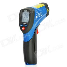 """Brand: CEM - Model: DT-8862 - Color: Blue + Deep Grey - Material: ABS - With 1.4"""" LCD display - Testing temperature range: -50~650'C (-58~1202'F) - Resolution: 0.1'C (0.1'F) - Working temperature: 0~50'C (30~122'F) - Relative humidity: 10%~90% - Accuracy: +/- 1.0% - Spectrum response: 8~14um - Optical ratio: 12:1 - Response time less than 150ms - Powered by 1 x 9V battery (included) - Comes with Chinese user manual & guarantee card http://j.mp/1octovI"""